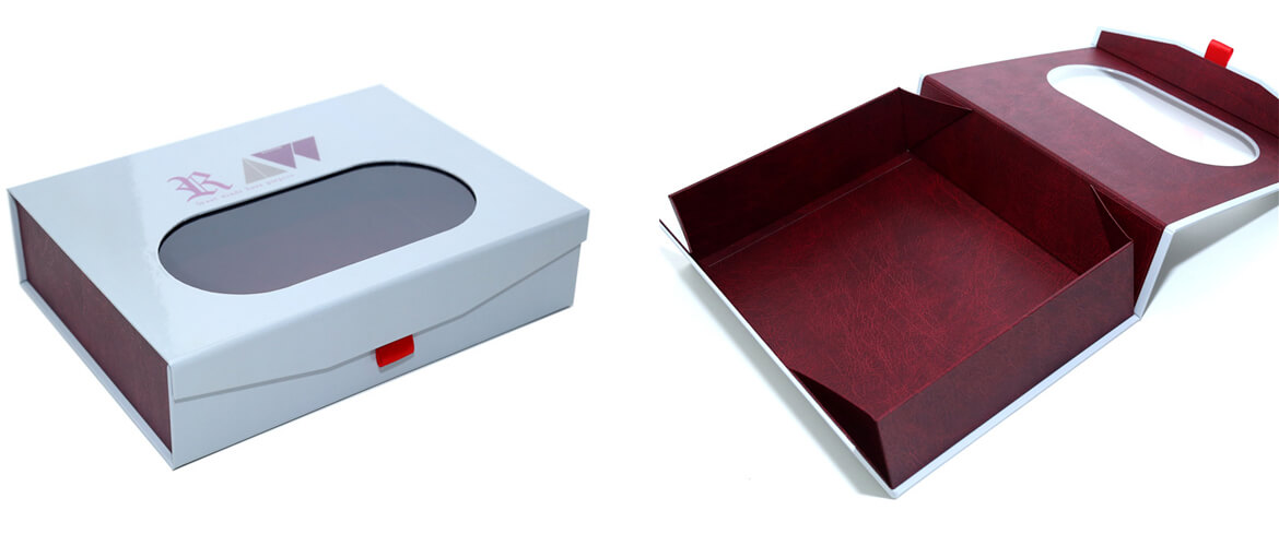 Collapsible Magnetic Closure Box With Pvc Window