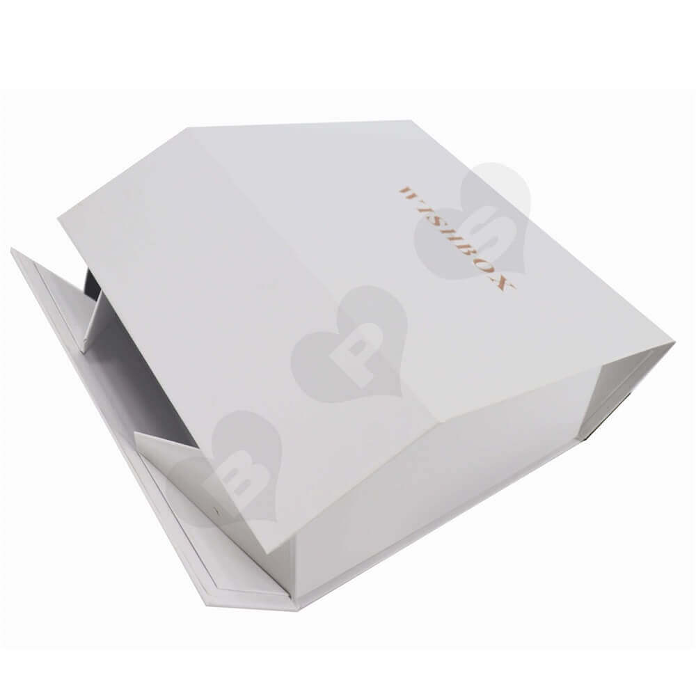Collapsible Rigid Box with Foil Stamping For Body Cream side view one