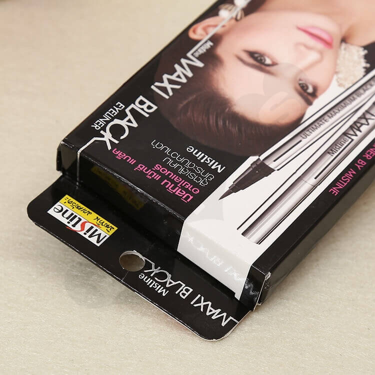 Color Printed Cardboard Box For Eyeliner side view four