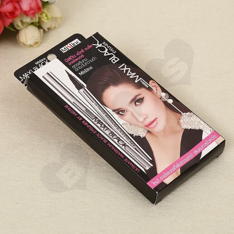 Color Printed Cardboard Box For Eyeliner side view one