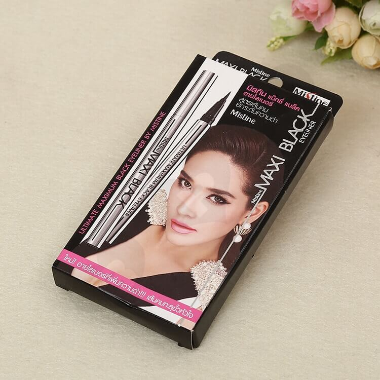 Color Printed Cardboard Box For Eyeliner side view three