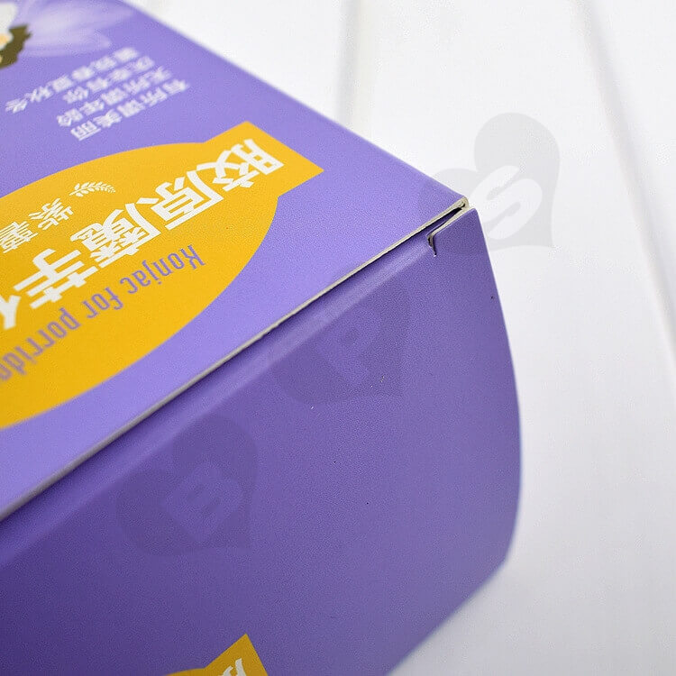 Color Printed Cardboard Box For Substitute Porridge side view five