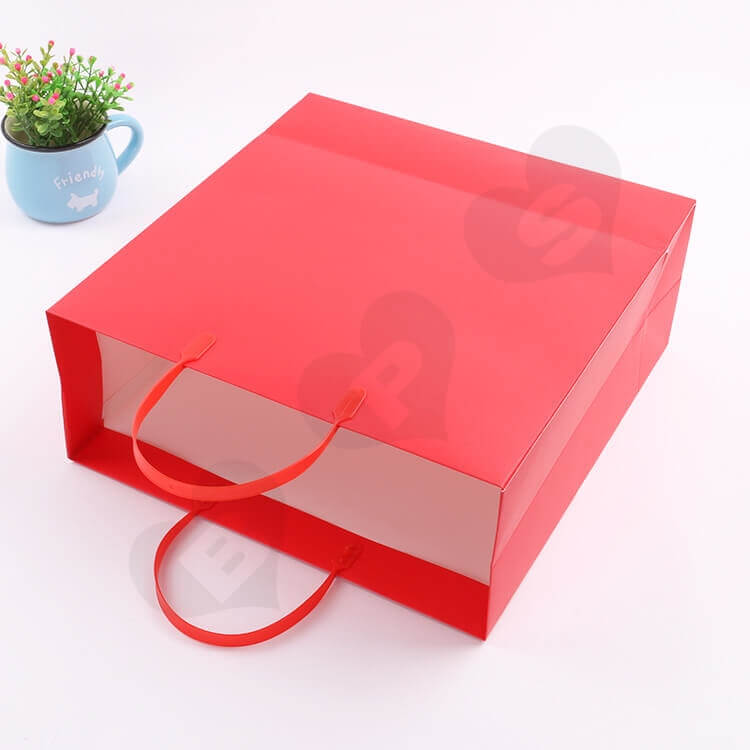 Color Printed Cardboard Paper Bag For Supermarket side view two