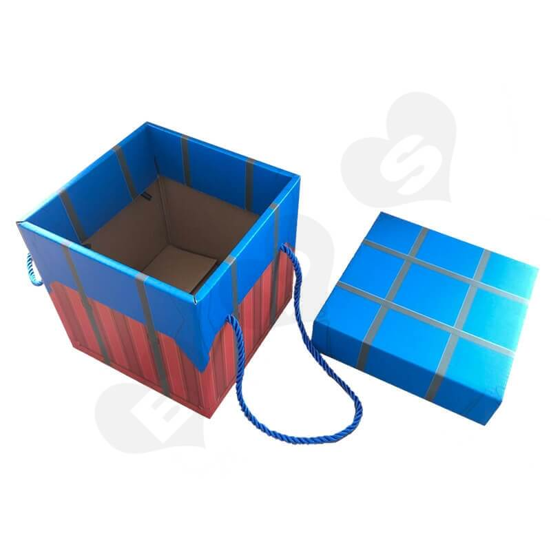 Color Printed Corrugated Box PUBG Air Drop package For Wine side view five