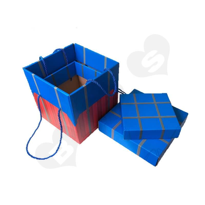 Color Printed Corrugated Box PUBG Air Drop package For Wine side view one