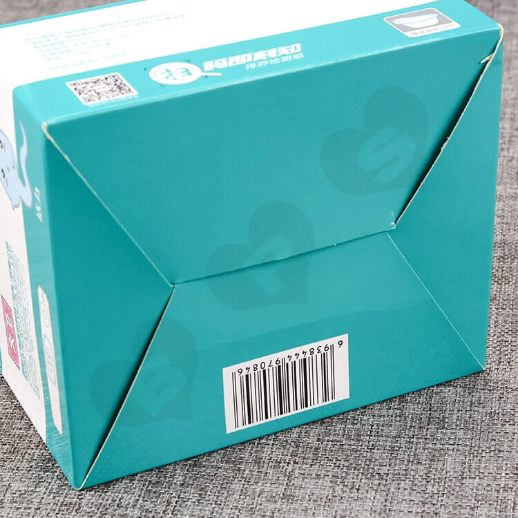 Color Printed White Cardboard Box For Ovulation Test Card side view five