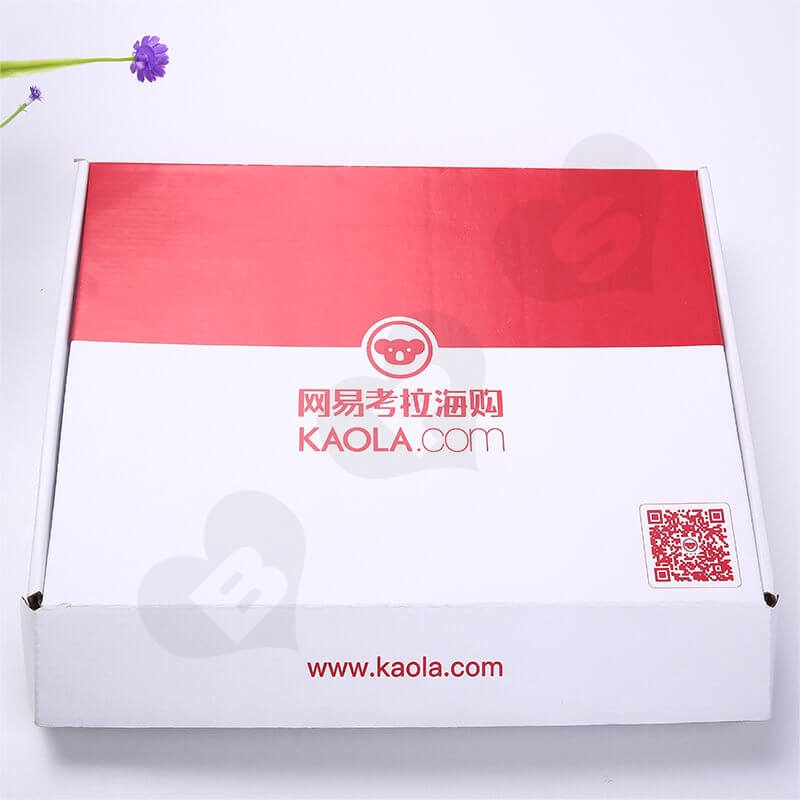 Color Printing Mailer Box For Online Shopping side view four