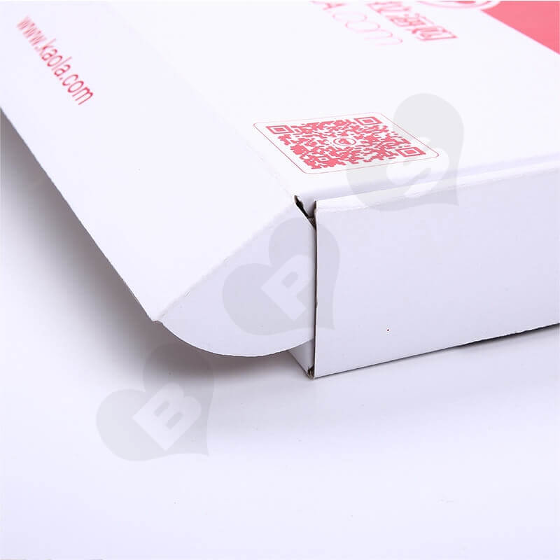 Color Printing Mailer Box For Online Shopping side view three