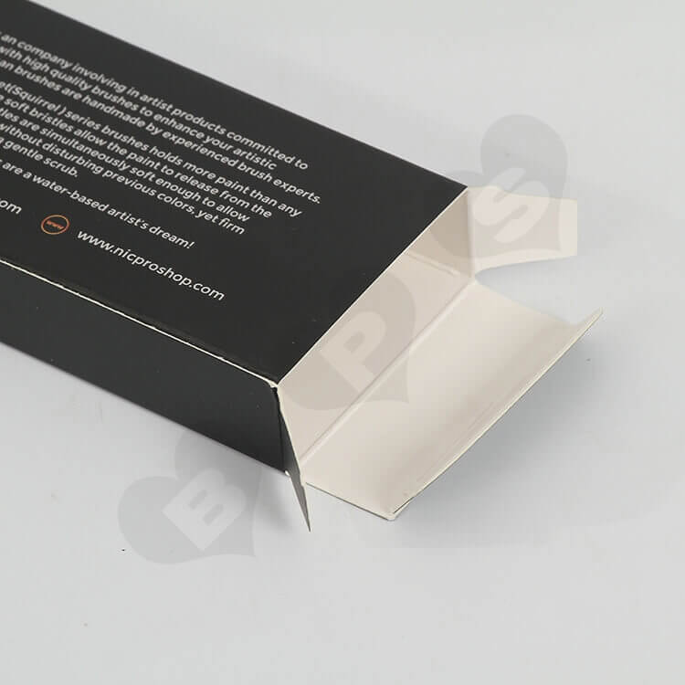 Color Printing Paint Brushes Packaging Box side view two