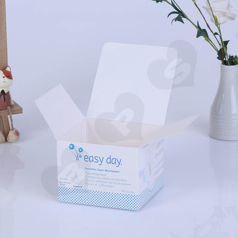 Color Printing Retail Box For Sanitary Napkins side view