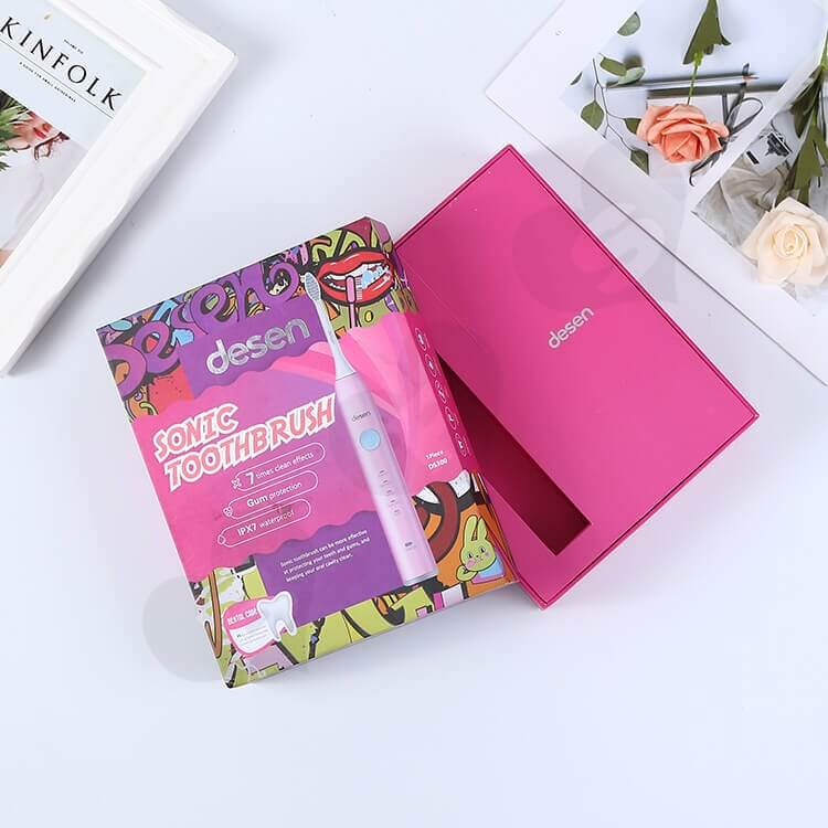 Color Printing Rigid Box For Sonic Toothbrush side view five