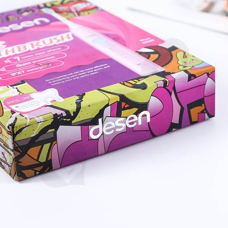 Color Printing Rigid Box For Sonic Toothbrush side view two