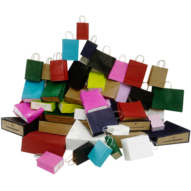 Colorful Paper Handles For Paper Bag
