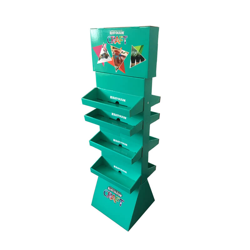 Corrugated Fiberboard Made Floor Display Stands