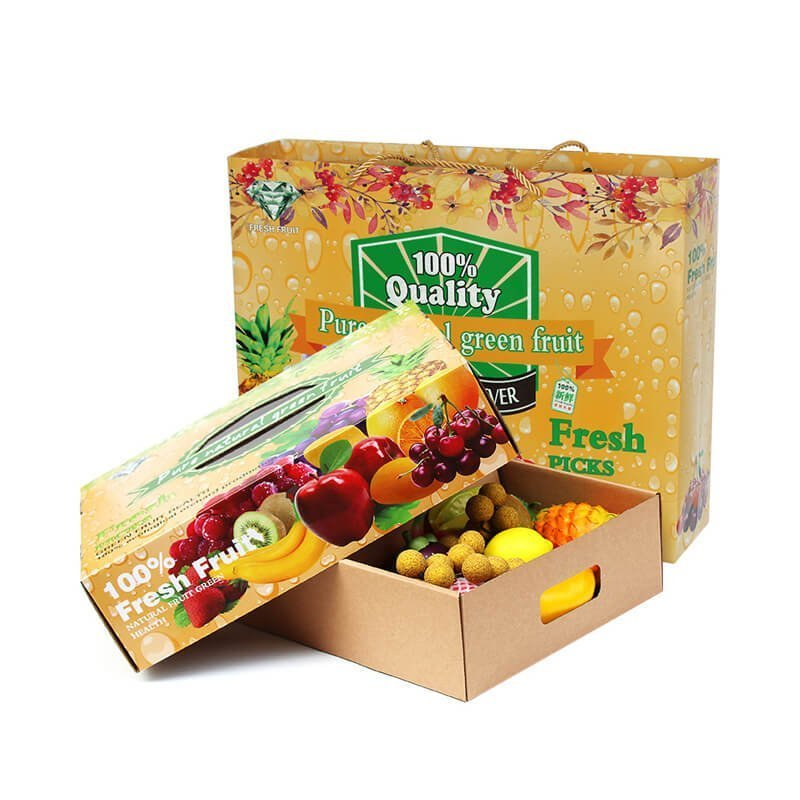 Corrugated Top and Bottom Shape Box For Fruit