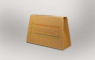 Corrugated board carrier boxes mockup
