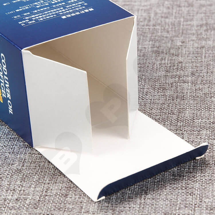 Custom Cardboard Box For Healthy Cod Liver Oil Capsule side view three