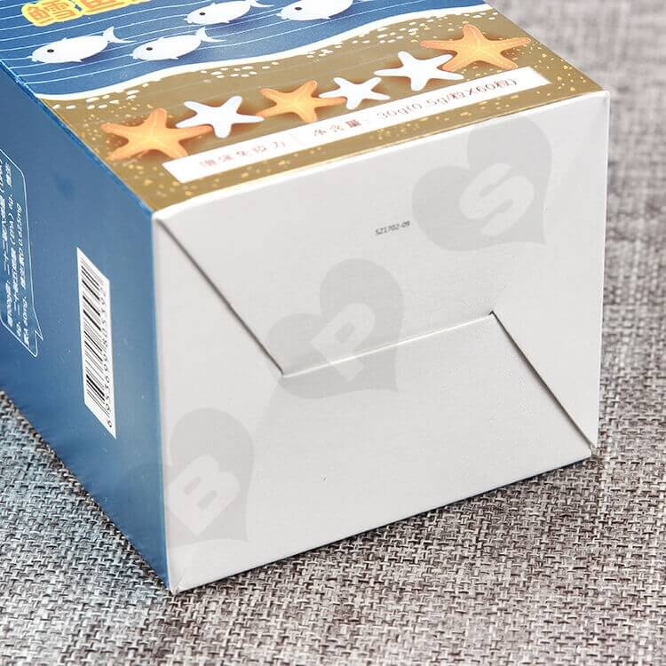 Custom Cardboard Box For Healthy Cod Liver Oil Capsule side view two