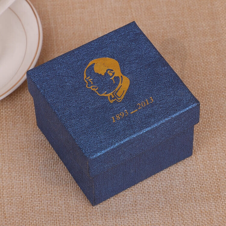 Custom Cardboard Gift Packaging Box For Watch side view two