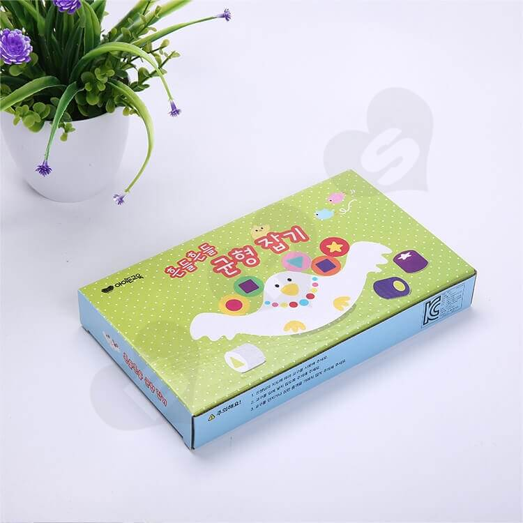 Custom Corrugated Paper Box For Building Block side view four
