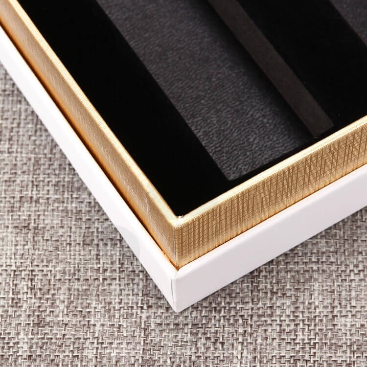 Custom Cosmetic Printing Cardboard Box With EVA insert side view five