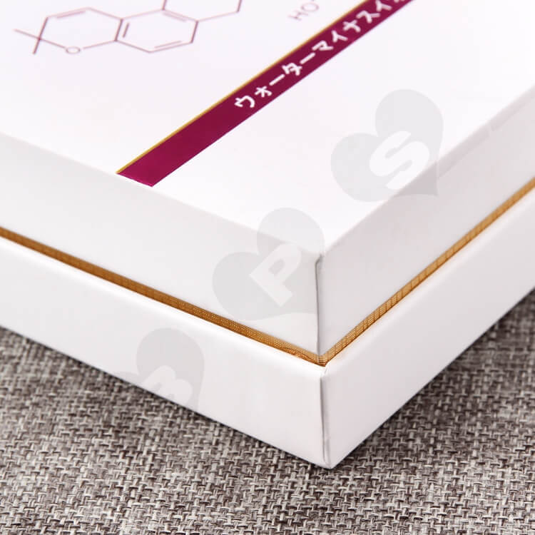 Custom Cosmetic Printing Cardboard Box With EVA insert side view two