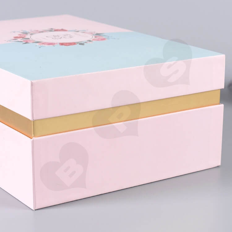 Custom Gift Box With Silk Insert For Wedding Candy side view four