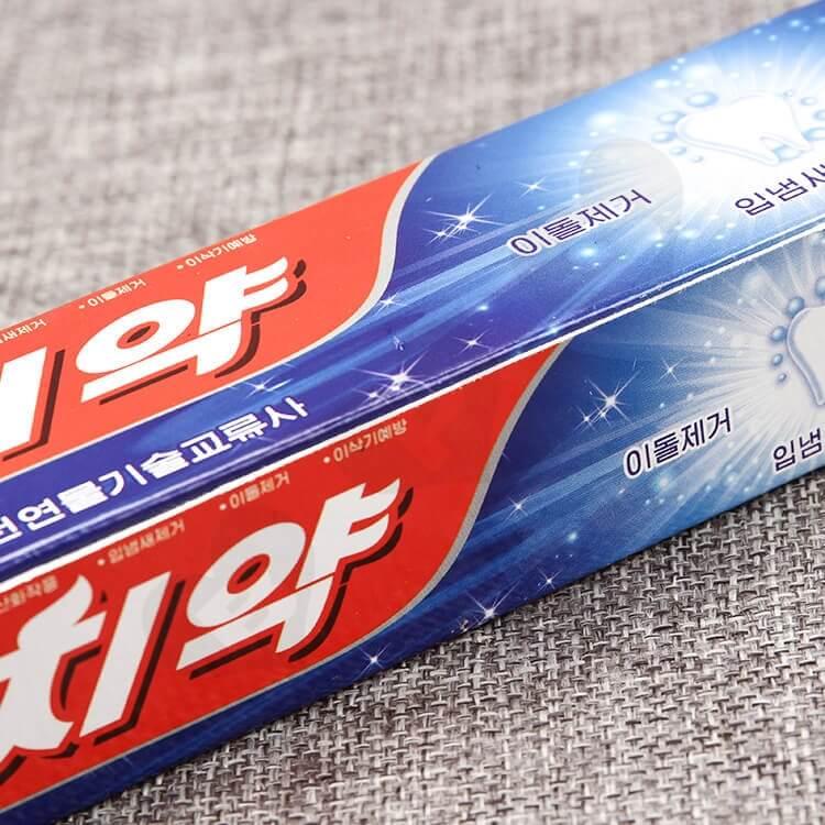 Custom Korean Color Printing Folding Carton Box For Toothpaste side view four