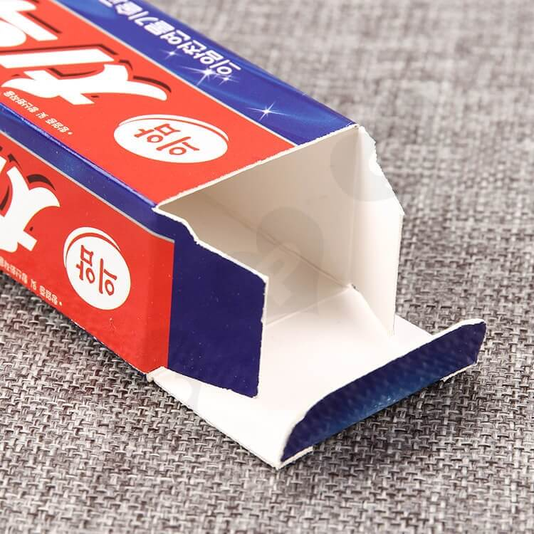 Custom Korean Color Printing Folding Carton Box For Toothpaste side view two