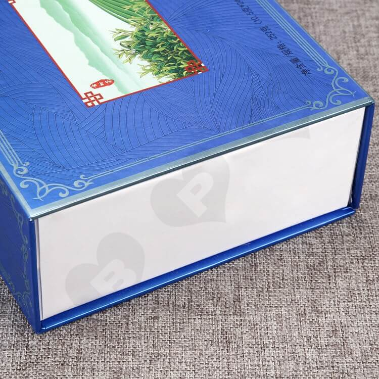 Custom Magnetic Closure Gift Box For Tea side view four