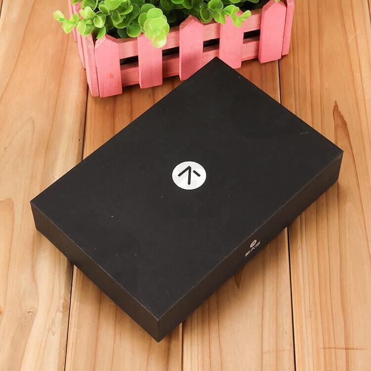 Custom Printed Black Gift Box With EVA Insert side view five
