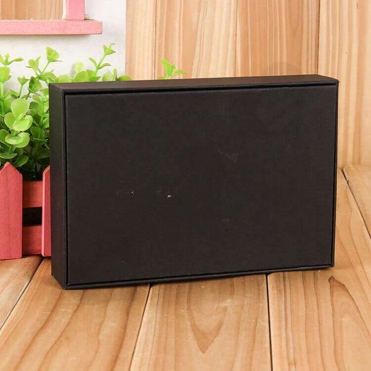 Custom Printed Black Gift Box With EVA Insert side view four