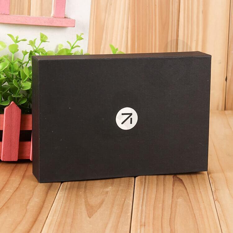 Custom Printed Black Gift Box With EVA Insert side view one