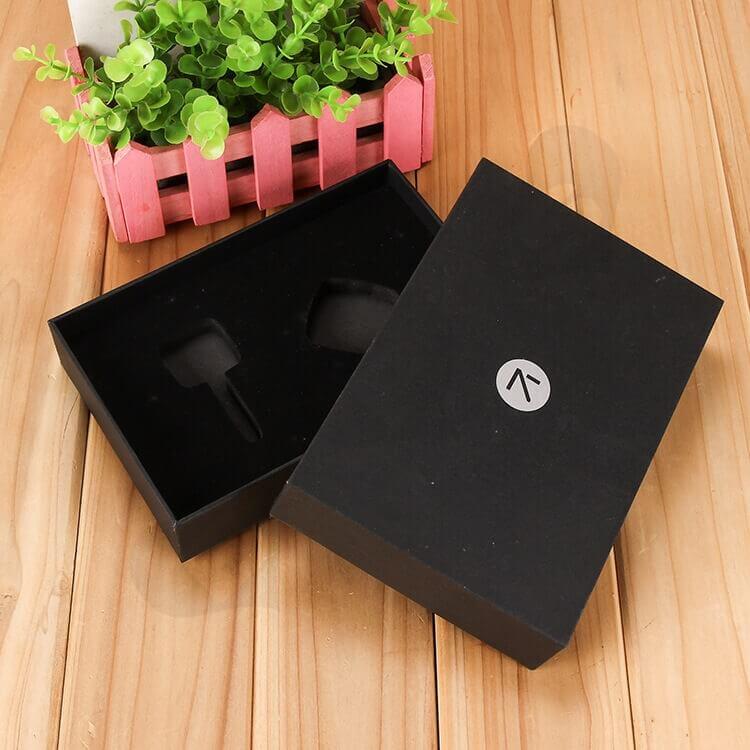 Custom Printed Black Gift Box With EVA Insert side view six