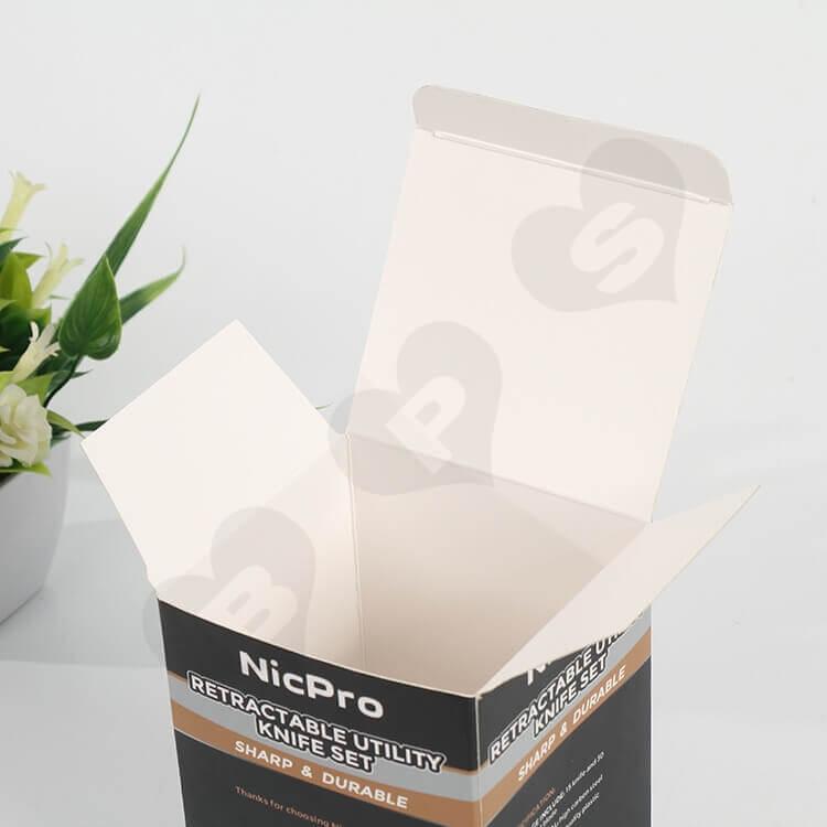 Custom Printed CardBoard Box For Knife side view five