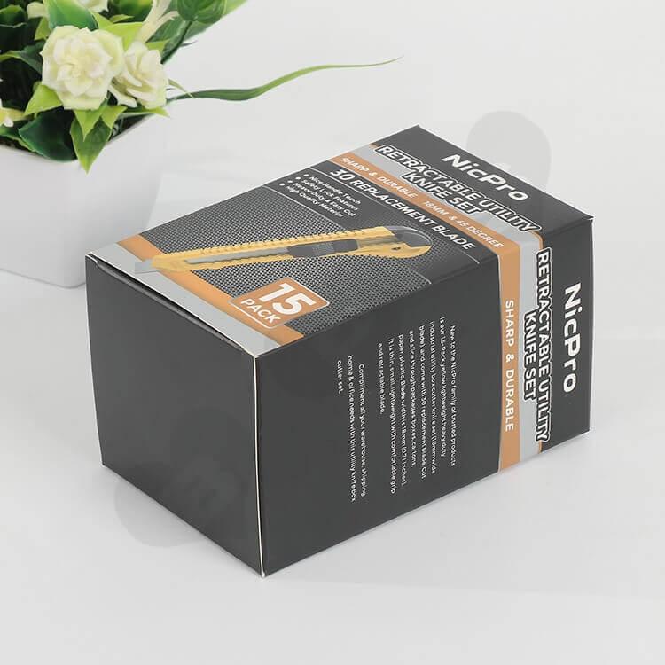 Custom Printed CardBoard Box For Knife side view four