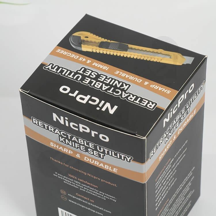 Custom Printed CardBoard Box For Knife side view two