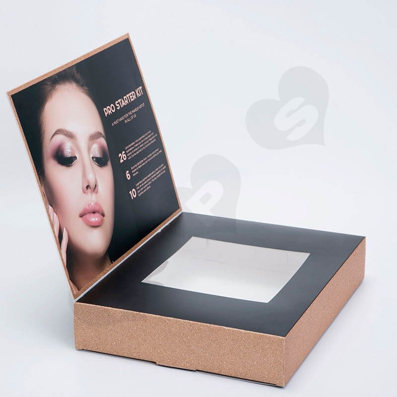 Custom Printed Cardboard Box For Deluxe Makeup Kit side view four