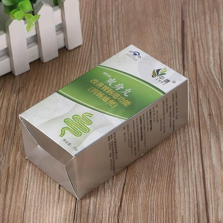 Custom Printed Cardboard Box For Intestine Drugs side view two