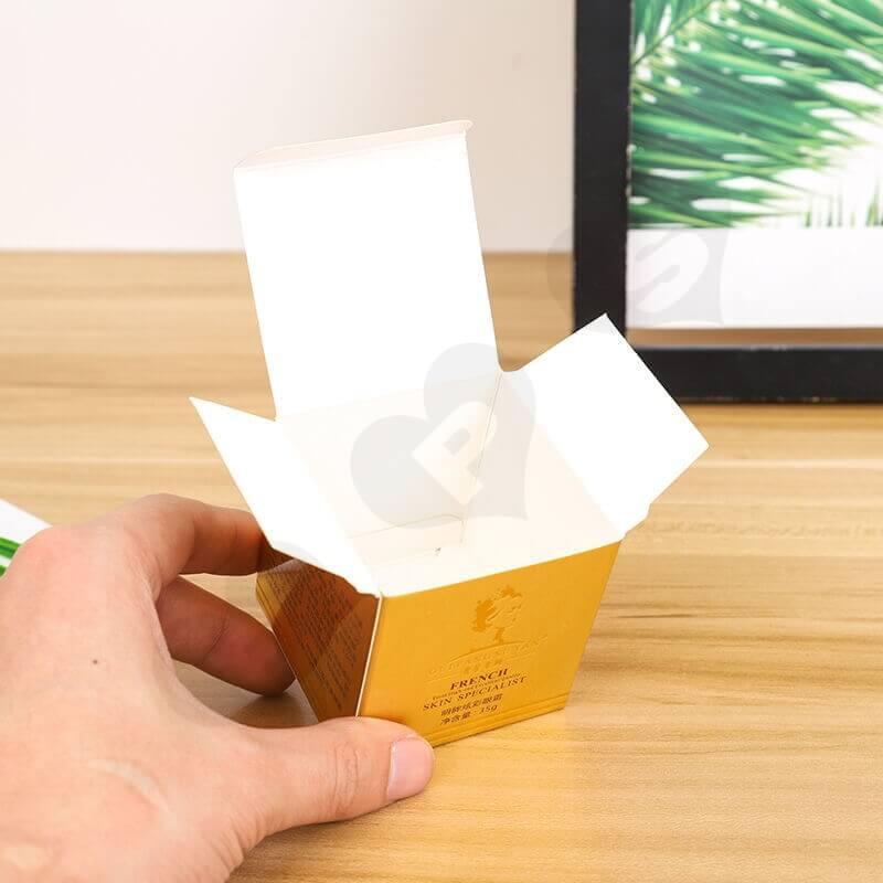 Custom Printed Cardboard Box For Skin Essence side view four