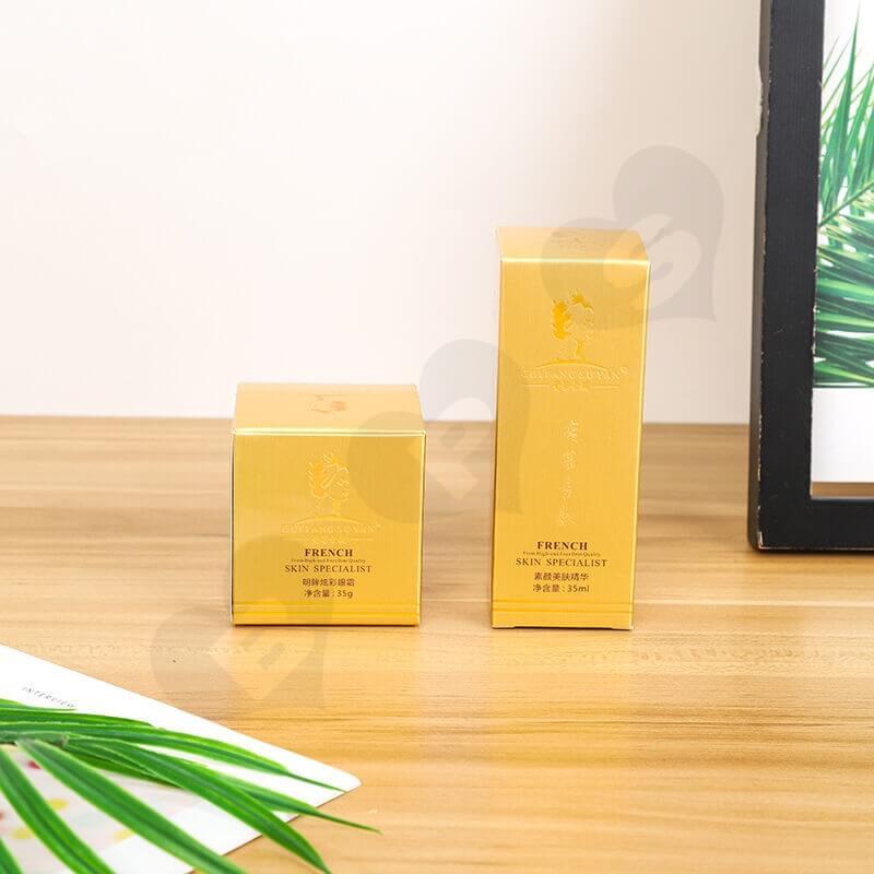 Custom Printed Cardboard Box For Skin Essence side view one