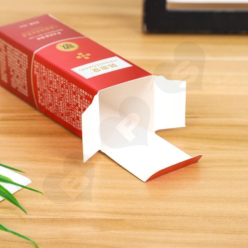 Custom Printed Folding Carton Box For Antiallergic Cream side view four