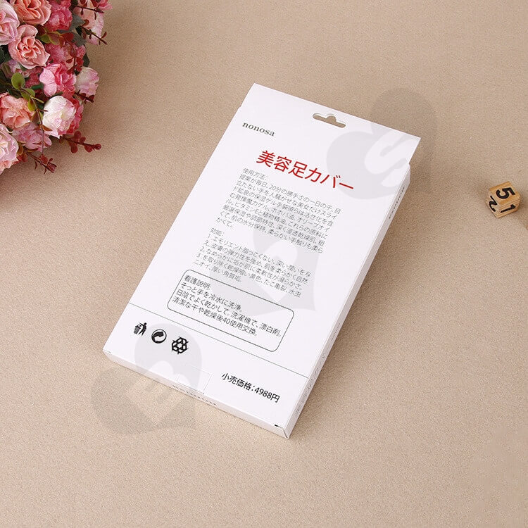 Custom Printed Folding Carton Box For Hand and Foot Spa side view five