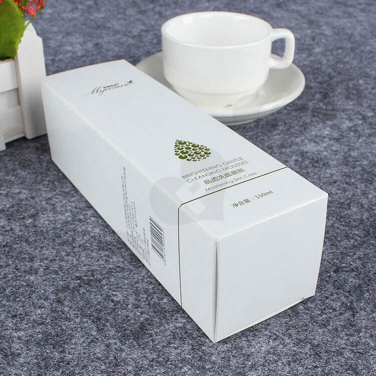 Custom Printed Folding Carton For Cleansing Mousse side view five