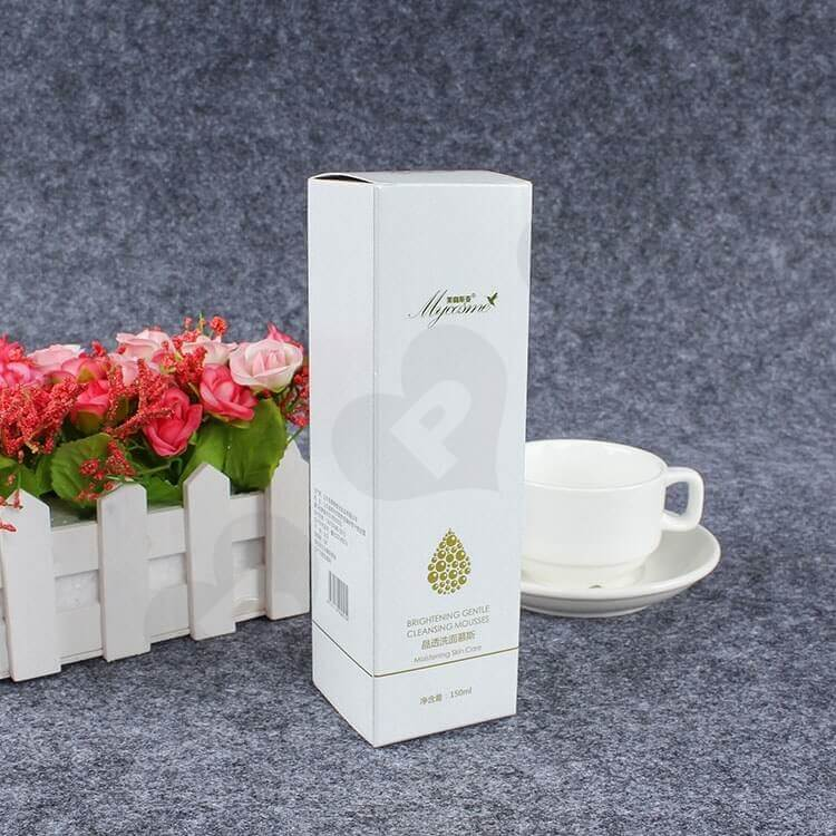 Custom Printed Folding Carton For Cleansing Mousse side view six