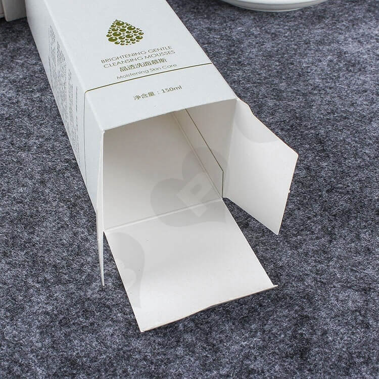 Custom Printed Folding Carton For Cleansing Mousse side view three