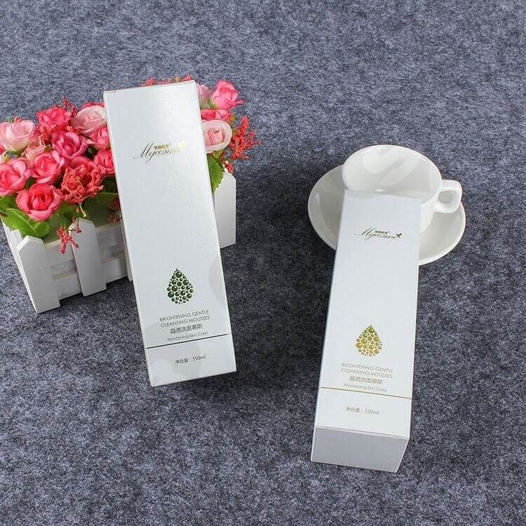 Custom Printed Folding Carton For Cleansing Mousse side view two