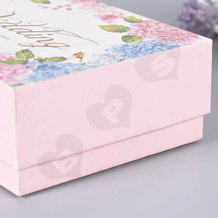 Custom Printed Gift Box For Wedding Perfume side view five