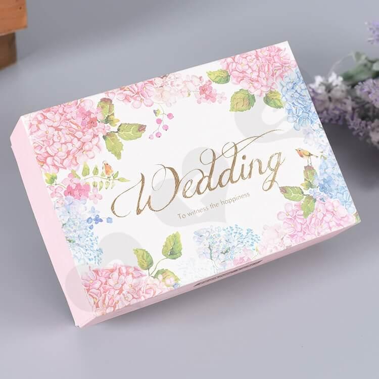 Custom Printed Gift Box For Wedding Perfume side view four