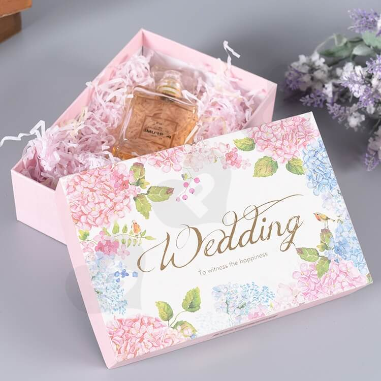 Custom Printed Gift Box For Wedding Perfume side view one